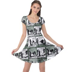 Comic book  Cap Sleeve Dresses