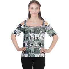 Comic book  Women s Cutout Shoulder Tee