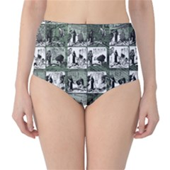 Comic book  High-Waist Bikini Bottoms
