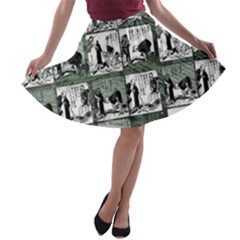 Comic book  A-line Skater Skirt