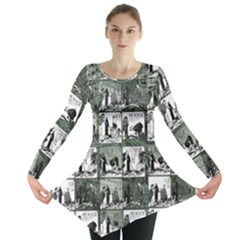 Comic book  Long Sleeve Tunic