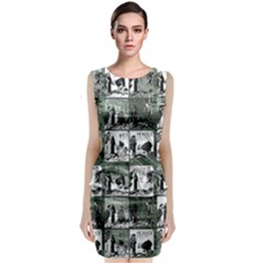 Comic book  Classic Sleeveless Midi Dress