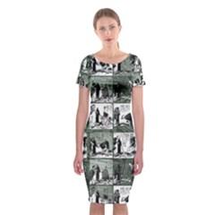 Comic book  Classic Short Sleeve Midi Dress