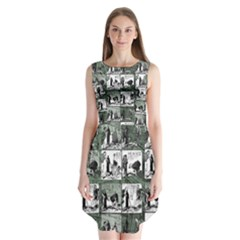 Comic book  Sleeveless Chiffon Dress