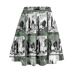 Comic book  High Waist Skirt