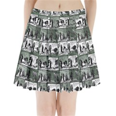 Comic book  Pleated Mini Skirt