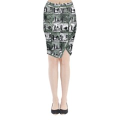 Comic book  Midi Wrap Pencil Skirt