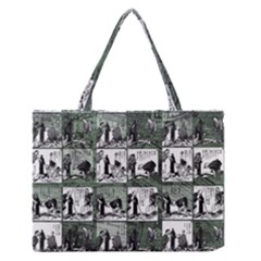 Comic book  Medium Zipper Tote Bag