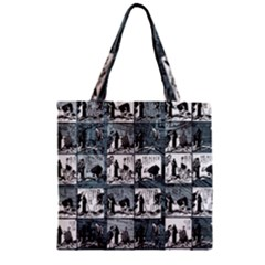 Comic book  Zipper Grocery Tote Bag