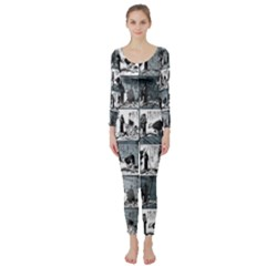 Comic book  Long Sleeve Catsuit