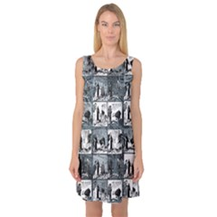 Comic book  Sleeveless Satin Nightdress