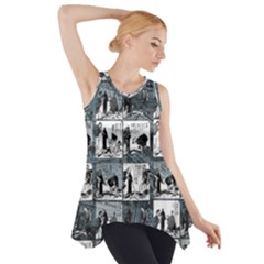 Comic book  Side Drop Tank Tunic