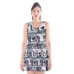 Comic book  Scoop Neck Skater Dress