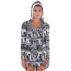 Comic book  Women s Long Sleeve Hooded T-shirt