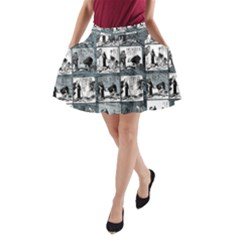 Comic book  A-Line Pocket Skirt