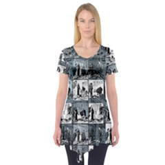 Comic book  Short Sleeve Tunic