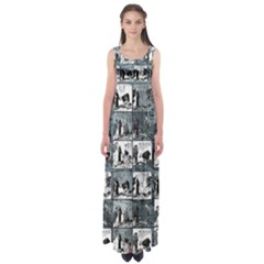 Comic book  Empire Waist Maxi Dress
