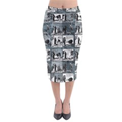 Comic book  Midi Pencil Skirt