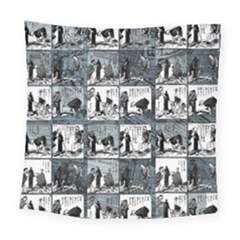 Comic book  Square Tapestry (Large)