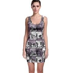 Comic book  Sleeveless Bodycon Dress