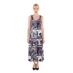 Comic book  Sleeveless Maxi Dress
