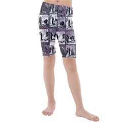 Comic book  Kids  Mid Length Swim Shorts