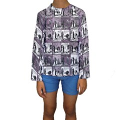 Comic book  Kids  Long Sleeve Swimwear