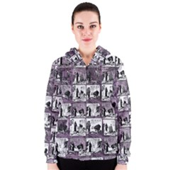 Comic book  Women s Zipper Hoodie