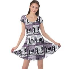 Comic book  Cap Sleeve Dresses