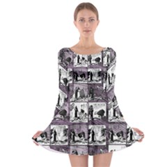 Comic book  Long Sleeve Skater Dress
