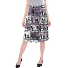 Comic book  Midi Beach Skirt