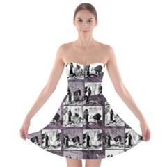 Comic book  Strapless Bra Top Dress