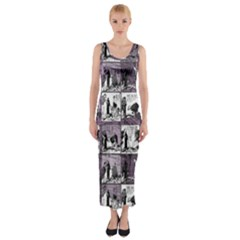 Comic book  Fitted Maxi Dress