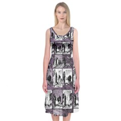 Comic book  Midi Sleeveless Dress