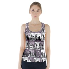 Comic book  Racer Back Sports Top