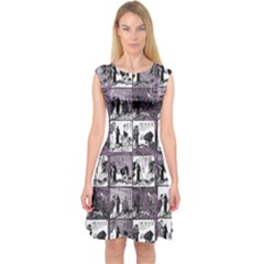 Comic book  Capsleeve Midi Dress