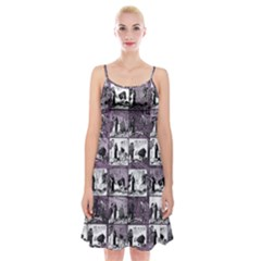 Comic book  Spaghetti Strap Velvet Dress