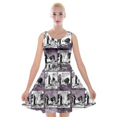 Comic book  Velvet Skater Dress
