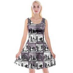 Comic book  Reversible Velvet Sleeveless Dress