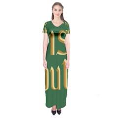 The Irish Republic Flag (1916, 1919-1922) Short Sleeve Maxi Dress