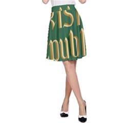 The Irish Republic Flag (1916, 1919-1922) A-Line Skirt