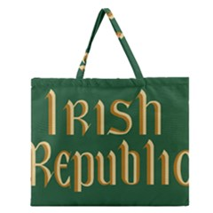 The Irish Republic Flag (1916, 1919-1922) Zipper Large Tote Bag