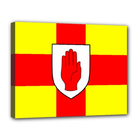 Flag of the Province of Ulster  Canvas 14  x 11