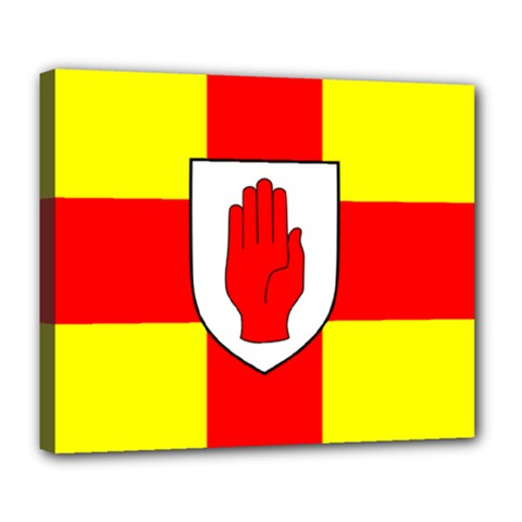 Flag of the Province of Ulster  Deluxe Canvas 24  x 20