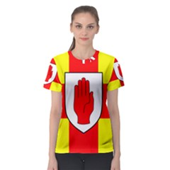 Flag of the Province of Ulster  Women s Sport Mesh Tee