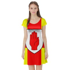 Flag of the Province of Ulster  Short Sleeve Skater Dress