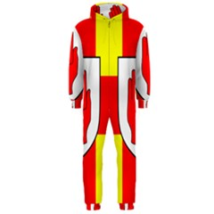 Flag of the Province of Ulster  Hooded Jumpsuit (Men)