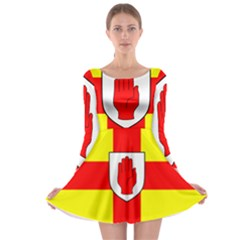 Flag of the Province of Ulster  Long Sleeve Skater Dress