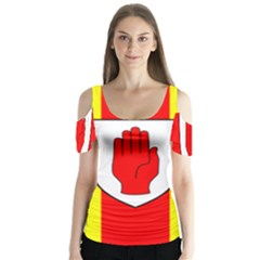 Flag of the Province of Ulster  Butterfly Sleeve Cutout Tee