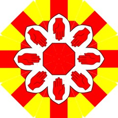 Flag of the Province of Ulster  Golf Umbrellas